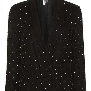 Topshop diamond velvet jacket